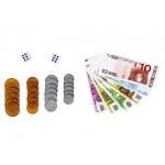 Sada bankoviek a mincí