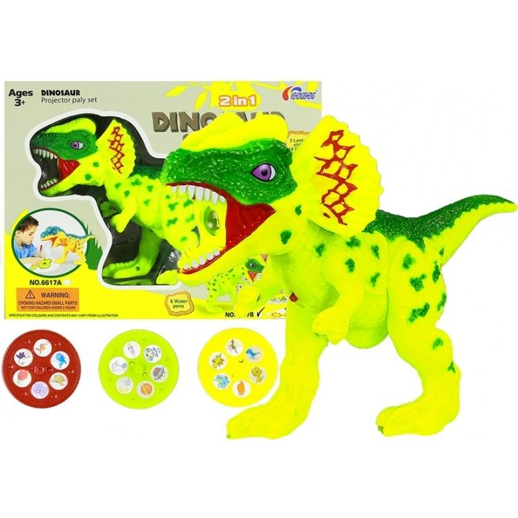 Dinosaurus - projektor s príslušenstvom žltý