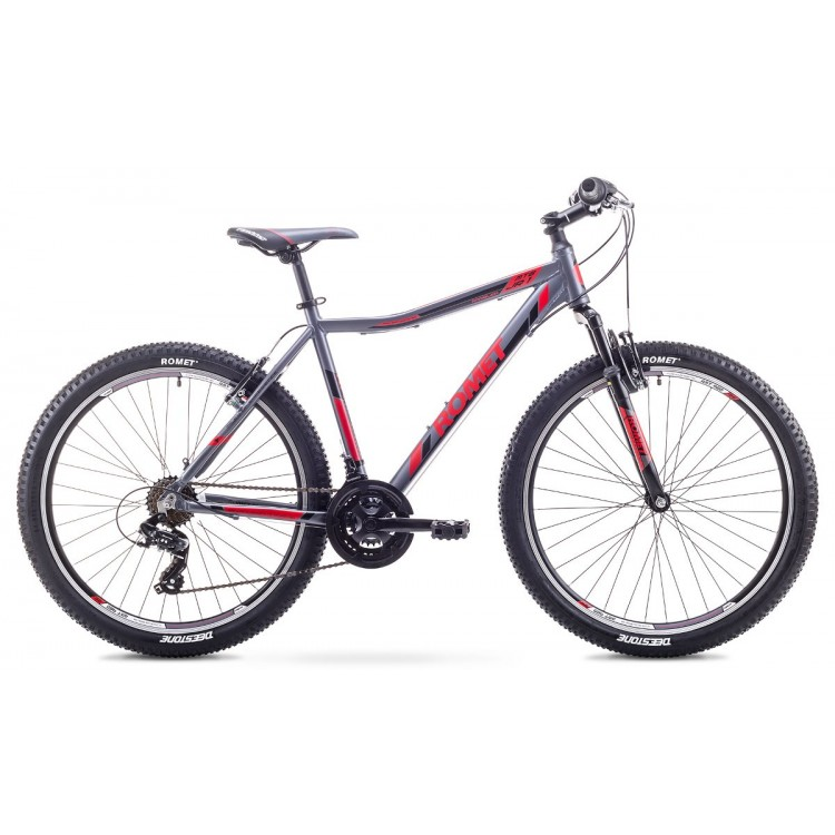 "Horský bicykel 26"" Romet Rambler JR 1M Hliníkový 17"" Sivo-červený"
