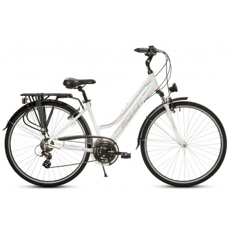 "Trekingový Bicykel 28"" Romet Track 1 D Hliníkový 17"" Biely"
