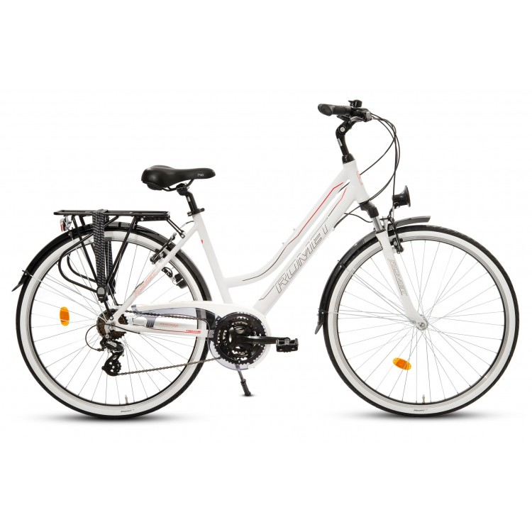 "Trekingový Bicykel 28"" Romet Track 1 D Hliníkový 19"" Biely"