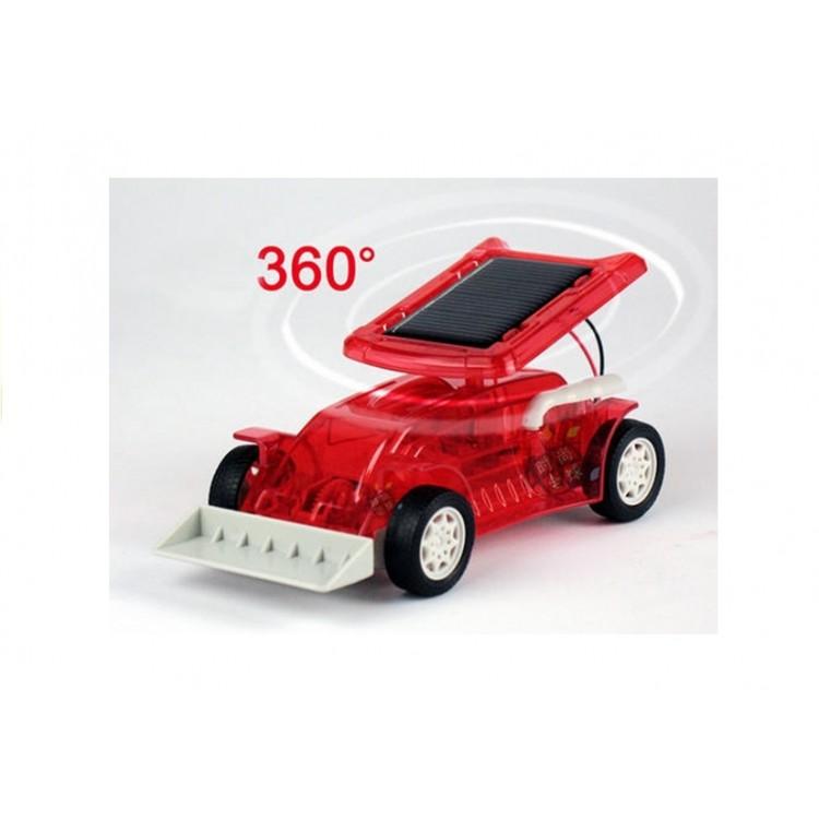 Automobil solárny na zmontovanie - červený