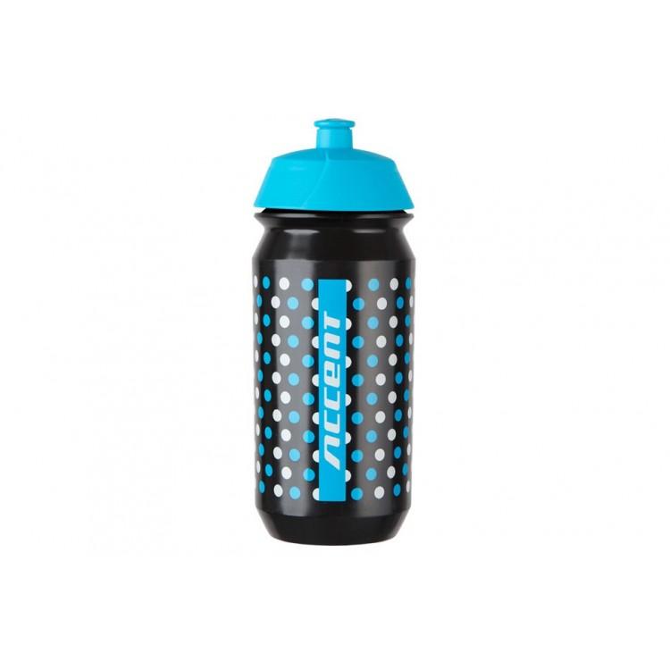 Fľaša 0,5 l Accent Dots Shanti Čierno-modro-biela