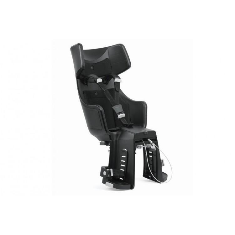Detská sedačka Bobike Tour Exclusive E-BD na nosič - sivo-čierna