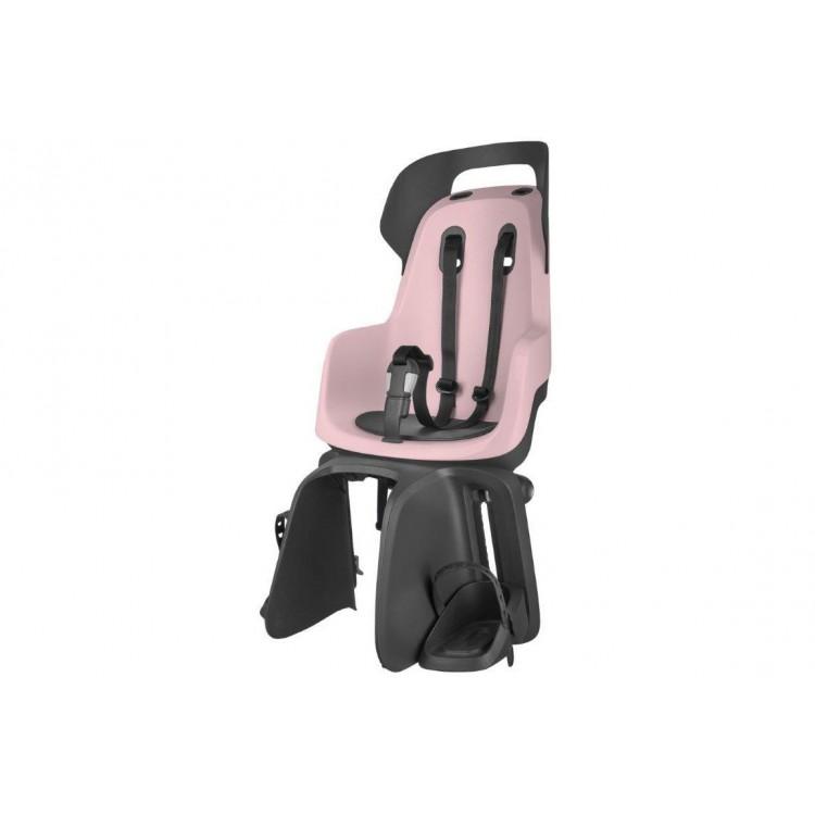 Detská sedačka Bobike Go na nosič - ružovo-čierna