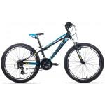 "Detský bicykel 24"" Unibike Raptor čierno-modrý"