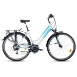 "Trekingový bicykel 28"" Saveno Oakland LDS D Deore Hliníkový 17"" Bielo-mätový"