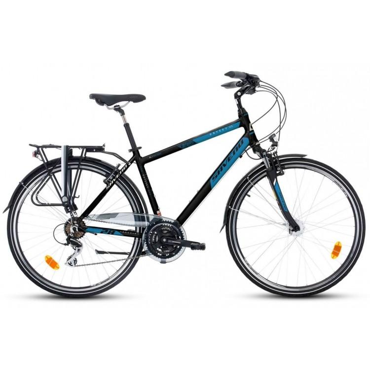 """Trekingový bicykel 28"""" Saveno Odyssey GTS M Acera  Hliníkový 21"""" Čierno-modrý"""