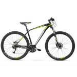 """Horský bicykel KROSS 29 LEVEL 3,0 M 19"""" Čierno-žlto-biely lesklý"""