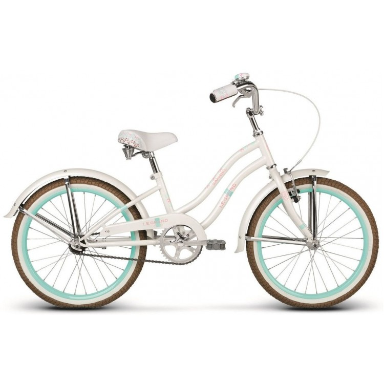 Detský bicykel 20 Le Grand Sanibel Kid lesklý biely