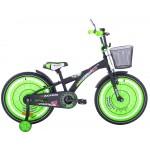 Detský bicykel 20 Fuzlu Racing Sport matný čierno-zelený
