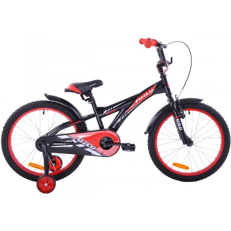 Detský bicykel 20 Fuzlu Eco čierno-červený