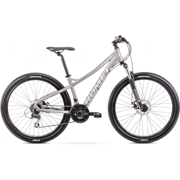 """Horský bicykel 27,5 Romet Jolene 7.1 Grafitovo-ružový hliníkový 19"""""""
