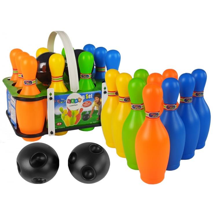 Farebná bowlingová sada - 10 kolkov