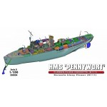 """HMS """"PENNYWORT"""" Britská kvetinová Corvette K111"""
