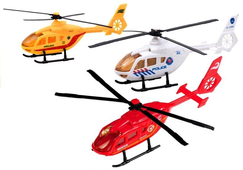 LEAN TOYS Záchranársky vrtuľník - biely